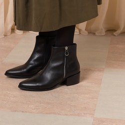 Marja Black Leather Boots Vagabond