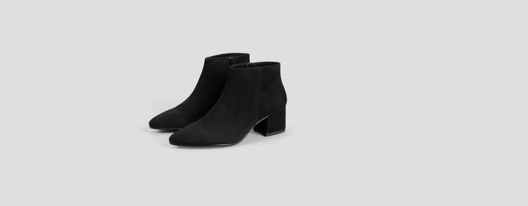 Mya Black Suede Boots