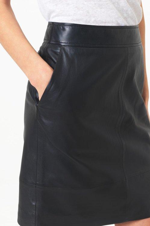 Francie Mini Leather Skirt Second Female
