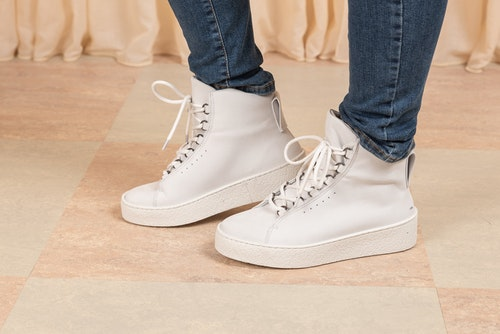 Anna Winter Laced Boot White Nubuck Filippa K