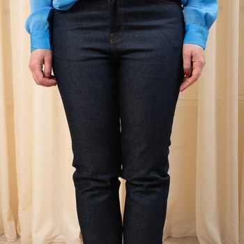 Edie Jeans Rinsed Blue  28-längd Dr Denim
