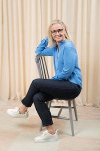 Edie Jeans Rinsed Blue Dr Denim