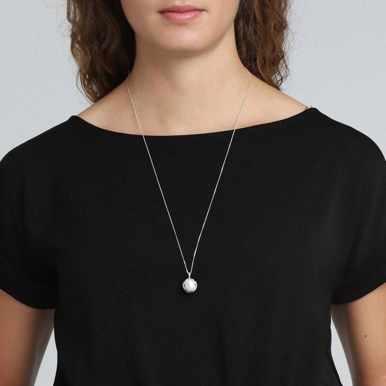 Berta Necklace Silver Pilgrim
