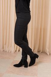 Mya Black Suede Boots