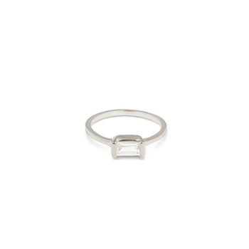 Tiny Baguette Ring Silver Syster P