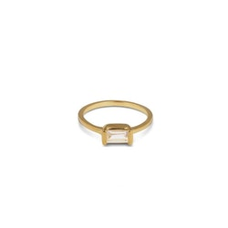 Tiny Baguette Ring Gold Syster P