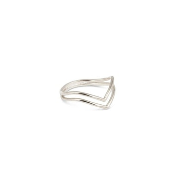 Tiny Arrow Ring Silver Syster P