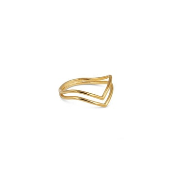 Tiny Arrow Ring Gold Syster P