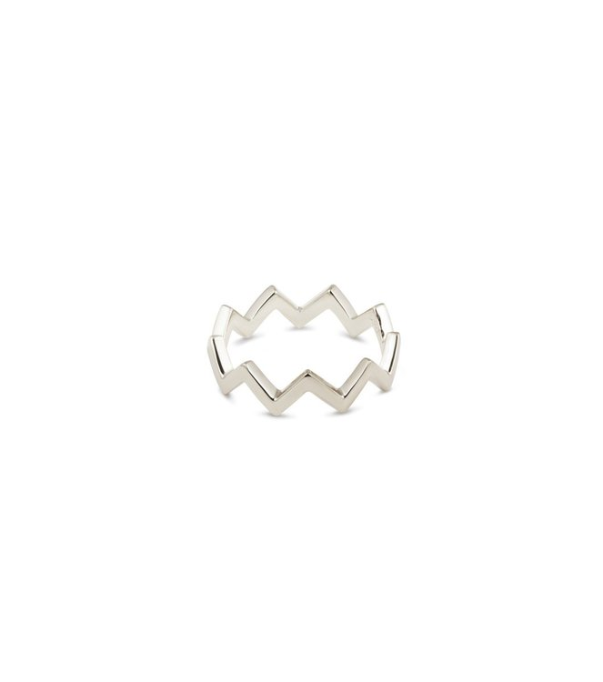 Strict Plain Zigzag Ring Silver Syster P