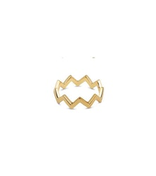 Strict Plain Zigzag Ring Gold