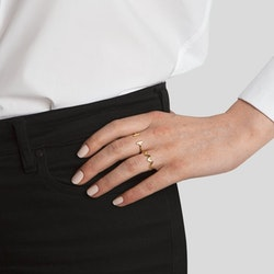 Strict Plain Zigzag Ring Gold Syster P