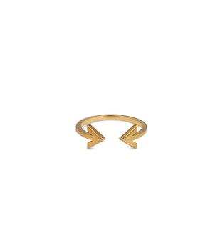 Strict Plain Double Arrow Gold