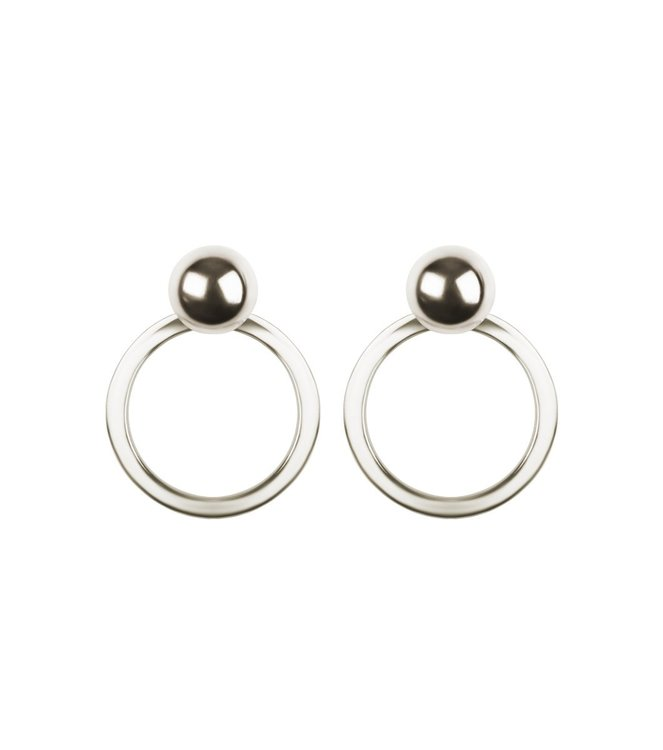 Planet Earrings Silver