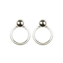 Planet Earrings Silver