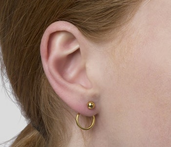 Planet Earrings Gold