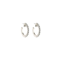 Beaches Small Flat Creols Silver Syster P