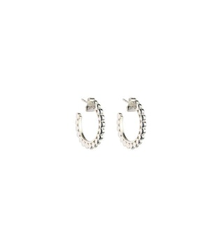 Beaches Small Flat Creols Silver