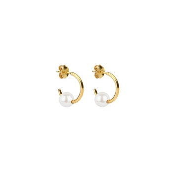 Pearly Small Hoops Gold Syster P