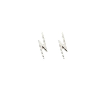Snap Earrings Flash Silver