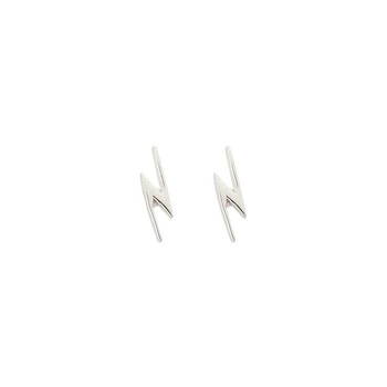 Snap Earrings Flash Silver Syster P