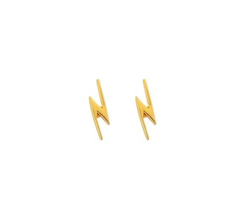 Snap Earrings Flash Gold