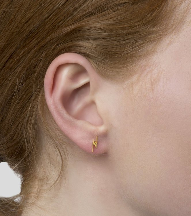 Snap Earrings Flash Gold Syster P