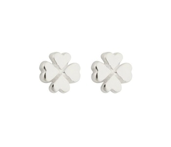 Sparkle Clover Earrings Silver