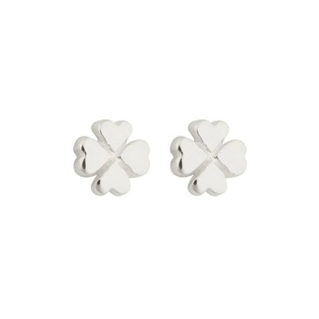 Sparkle Clover Earrings Silver Syster P