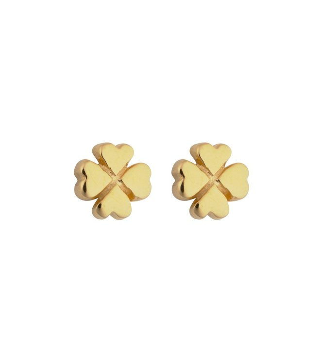 Sparkle Clover Earrings Gold Syster P