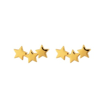 Snap Earrings Triple Star Gold Syster P