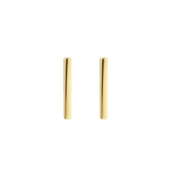Strict Plain Bar Earrings Gold