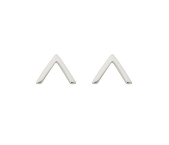 Strict Plain V Earrings Silver