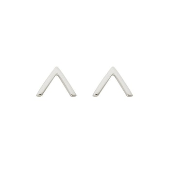 Strict Plain V Earrings Silver Syster P