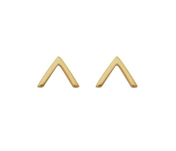 Strict Plain V Earrings Gold