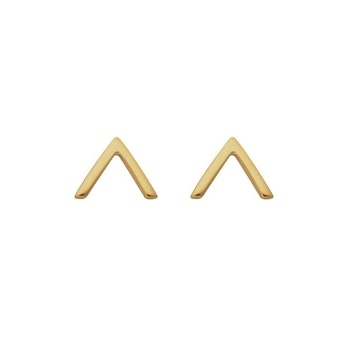Strict Plain V Earrings Gold Syster P