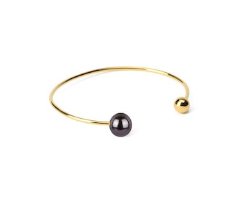 Pearly Double Bangle Gold