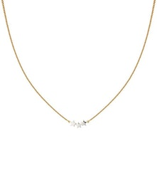 Snap Necklace Triple Star Plain Gold