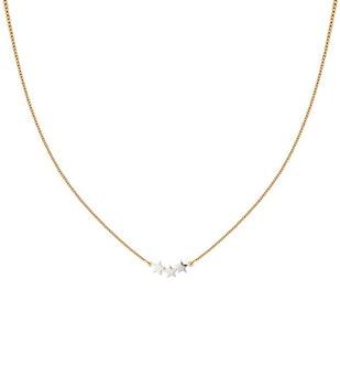 Snap Necklace Triple Star Plain Gold