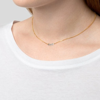 Snap Necklace Triple Star Plain Gold Syster P