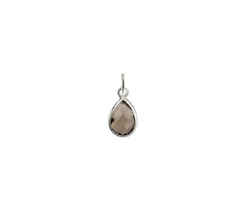 Beloved Stone Pendant Silver Smokey Quartz