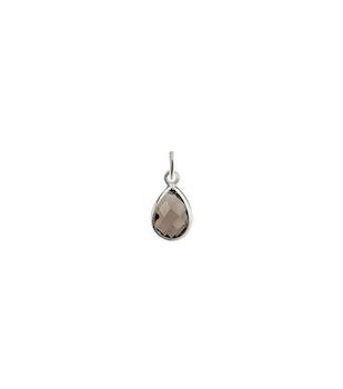 Beloved Stone Pendant Silver Smokey Quartz