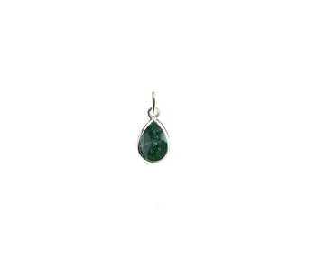 Beloved Stone Pendant Silver Green Aventurine