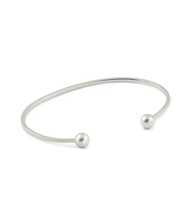 Strict Plain Bangle Ball Silver Syster P