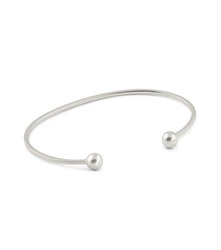 Strict Plain Bangle Ball Silver