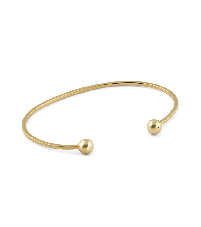 Strict Plain Bangle Ball Gold Syster P