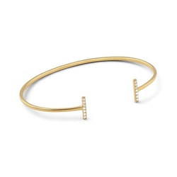 Strict Sparkling Bangle Bars Gold Syster P