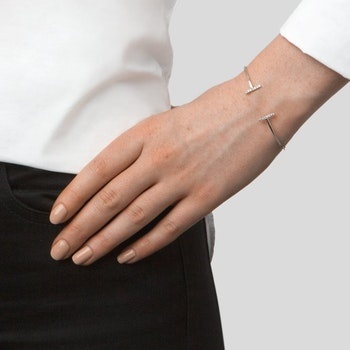 Strict Sparkling Bangle Bars Silver Syster P