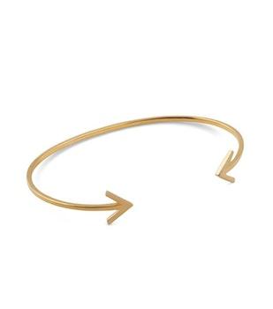 Strict Plain Bangle Arrow Gold