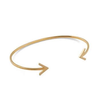 Strict Plain Bangle Arrow Gold Syster P