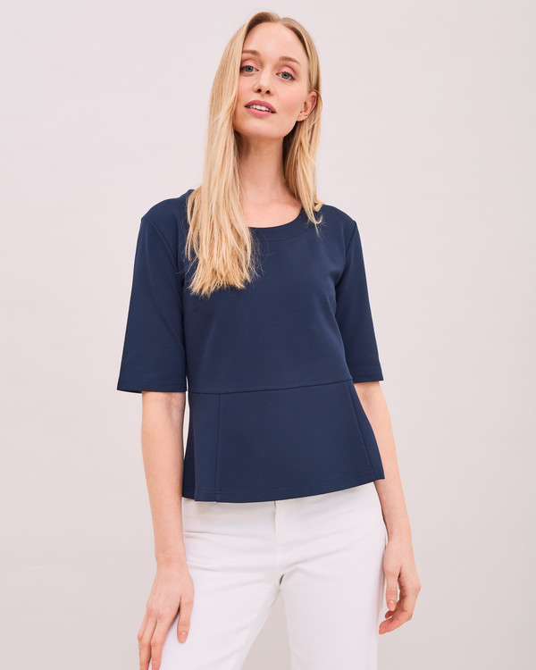 Peplum Top Navy Newhouse